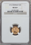 Commemorative Gold, 1916 G$1 McKinley MS66+ NGC....