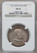 Commemorative Silver, 1922 50C Grant With Star MS64 NGC....