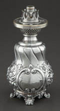 Silver Holloware, American:Other , A MAUSER SILVER OIL LAMP . The Mauser Manufacturing Company, NewYork, New York, circa 1895. Marks: (hippocamp with M), ST...