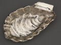 Silver Holloware, American:Bowls, A WOOD & HUGHES SILVER SHELL-FORM ALMOND DISH . Wood &Hughes, New York, New York, circa 1900. Marks: W&H,STERLING, 189 ...