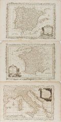 Books:Maps & Atlases, [Moore's Travels]. Group of Three Engraved Maps Taken from John Hamilton Moore's New and Complete Collection of Voyages ...