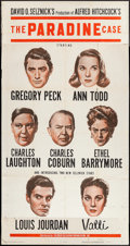 """Movie Posters:Hitchcock, The Paradine Case (Selznick, 1948). Three Sheet (41"""" X 77.75""""). Hitchcock.. ..."""