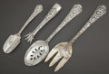 Silver & Vertu:Flatware, FOUR ASSOCIATED GORHAM CLUNY PATTERN SILVER UTENSILS . Gorham Manufacturing Co., Providence, Rhode Island, desig... (Total: 4 )