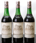 Red Bordeaux, Chateau Haut Brion 1970 . Pessac-Leognan. 1(4cm), 1(5.2cm),1(5.5cm), 3lbsl, 2ltl, 1lwisl, 3lcc, 3ssos. Bottle (3). ... (Total:3 Btls. )