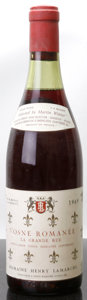 Red Burgundy, La Grande Rue 1969 . H. Lamarche . 3cm, lbsl, lcc. Bottle(1). ... (Total: 1 Btl. )