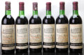 Red Bordeaux, Chateau Milon 1970 . St. Emilion. 1ts, 2vhs, 3hs, 6bsl, 1nl,6cc, 3ssos. Bottle (6). ... (Total: 6 Btls. )