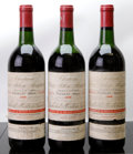 Red Bordeaux, Chateau Clerc Milon 1966 . Pauillac. 1hs, 1ms, 1lbsl, 1ltl,3lcc, 1ssos. Bottle (3). ... (Total: 3 Btls. )