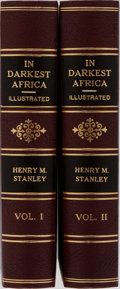 Books:Travels & Voyages, Henry M. Stanley. In Darkest Africa. Vol. I & II. Scribners, 1890. Modern cloth. Hinges reinforced. Pastedowns r... (Total: 2 Items)