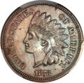 Indian Cents, 1873 1C Doubled LIBERTY, Closed 3 MS63 Brown PCGS. Snow-1,FS-101....