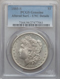 Morgan Dollars: , 1885-S $1 -- Altered Surfaces -- PCGS Genuine. UNC Details.Mintage: 1,497,000. ...