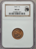 Indian Cents, 1860 1C MS66 NGC....