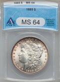 Morgan Dollars: , 1885 $1 MS64 ANACS. NGC Census: (29907/11782). PCGS Population(24108/9370). Mintage: 17,787,767. Numismedia Wsl. Price for...