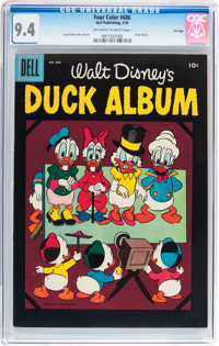Four Color #686 Duck Album - File Copy (Dell, 1956) CGC NM 9.4 Off-white to white pages