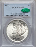 Peace Dollars: , 1923 $1 MS65 PCGS. CAC. PCGS Population (15099/1746). NGC Census:(34297/3062). Mintage: 30,800,000. Numismedia Wsl. Price ...