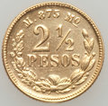 Mexico, Mexico: Republic gold 2 1/2 Pesos 1884-Mo M,...