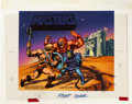 Original Comic Art:Miscellaneous, Masters of the Universe Lunch Box Production Original ArtWith Lunch Box (Aladdin, 1983).... (Total: 2 Items)