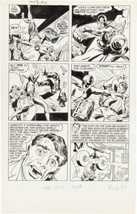"""Joe Simon and Jack Kirby The Fly #2 """"Marco's Eyes"""" Page 6 Original Art (Archie, 1959)"""