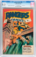 Golden Age (1938-1955):Adventure, Rangers Comics #37 (Fiction House, 1947) CGC VF+ 8.5 Off-white to white pages....