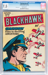 Blackhawk #12 (Quality, 1946) CGC VF- 7.5 Off-white pages