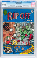 Bronze Age (1970-1979):Alternative/Underground, Rip Off Comix #1 (Rip Off Press, 1977) CGC VF/NM 9.0 Off-white to white pages....