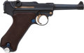 Handguns:Semiautomatic Pistol, Exceptional Krieghoff Model P08 1937 Luftwaffe Contract Semi-Automatic Pistol with Matching Magazine....