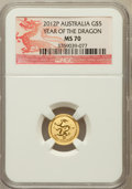 Australia: , 2012-P G$5 Year of the Dragon MS70 NGC. NGC Census: (0). PCGSPopulation (0)....