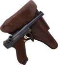 Handguns:Semiautomatic Pistol, German DWM Model P08 1912 Luger Semi-Automatic Pistol with Holster....