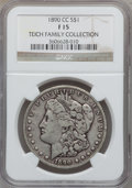 Morgan Dollars, 1890-CC $1 Fine 15 NGC. Ex: Teich Family Collection. NGC Census: (66/5698). PCGS Population (108/10210). Mintage: 2,309,04...