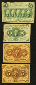 Fractional Currency:First Issue, Four First Issue Fractionals Very Good or Better.. ... (Total: 4 notes)