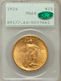 Saint-Gaudens Double Eagles: , 1924 $20 MS60 PCGS. CAC. PCGS Population (1968/259457). NGC Census:(730/299267). Mintage: 4,323,500. Numismedia Wsl. Price...