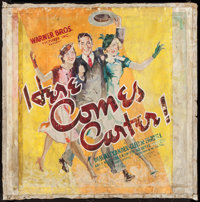 "Here Comes Carter (Warner Brothers, 1936). Original Artwork (32"" X 33""). Comedy"