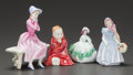 Ceramics & Porcelain, British:Contemporary   (1950 to present)  , FOUR ROYAL DOULTON FIGURINES. 20th century. Marks: ROYALDOULTON (logo). 6 inches high (15.2 cm) (tallest). ... (Total:4 Items)