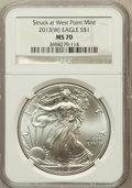 Modern Bullion Coins, 2013-(W) $1 One-Ounce Silver American Eagle, Struck at West PointMint MS70 NGC. NGC Census: (0). PCGS Population (11146)....
