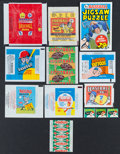 Baseball Cards:Unopened Packs/Display Boxes, 1950's-70's Baseball & Football Wrappers & Packs Collection(13). ...