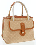 Luxury Accessories:Bags, Louis Vuitton Champagne Mini Lin Monogram Canvas Mary Kate ToteBag. ...