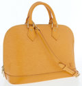 Luxury Accessories:Bags, Louis Vuitton Yellow Epi Leather Alma Bag with Shoulder Strap. ...