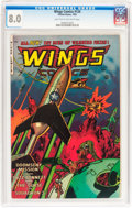 Golden Age (1938-1955):War, Wings Comics #120 (Fiction House, 1953) CGC VF 8.0 Light tan tooff-white pages....