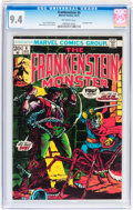 Bronze Age (1970-1979):Horror, Frankenstein #6 (Marvel, 1973) CGC NM 9.4 Off-white pages....