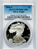 Modern Bullion Coins: , 2000-P $1 Silver Eagle PR70 Deep Cameo PCGS. PCGS Population (658).NGC Census: (1881). Numismedia Wsl. Price for problem ...