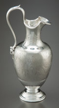 Silver Holloware, British:Holloware, AN EDWARD & JOHN BARNARD VICTORIAN SILVER CREAM JUG. Edward& John Barnard, London, England, circa 1858-1859. Marks: (lionp...