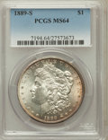 Morgan Dollars: , 1889-S $1 MS64 PCGS. PCGS Population (2132/653). NGC Census:(1280/285). Mintage: 700,000. Numismedia Wsl. Price for proble...
