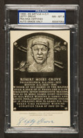 Baseball Collectibles:Others, 1956-63 Lefty Grove Artvue Hall of Fame Plaque Postcard PSA NM-MT8. ...