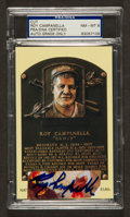 Baseball Collectibles:Others, Roy Campanella Signed Cut Signature, PSA NM-MT 8....