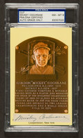 Baseball Collectibles:Others, Mickey Cochrane Signed Cut Signature, PSA NM-MT 8....