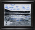 Baseball Collectibles:Photos, Brooklyn Dodgers Greats Multi Signed Oversized Photograph....