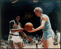 Basketball Collectibles:Photos, Larry Bird Signed Oversized Photograph....