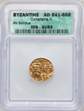 Ancients:Byzantine, Ancients: BYZANTINE.Constans II, with Constantine IV (AD641-668). AV solidus....