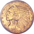 Indian Half Eagles, 1909-O $5 MS61 PCGS. CAC. Variety 1....