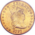 Early Eagles, 1797 $10 Large Eagle XF40 PCGS Genuine -- Filed Rims -- XF Details.BD-4, High R.4....