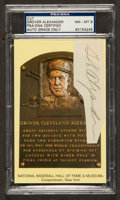 Baseball Collectibles:Others, Grover Alexander Signed Cut Signature, PSA NM-MT 8....